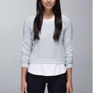 LULULEMON | Be present pullover blue top 10
